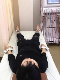 安城市長坂接骨院 頭痛生術風景